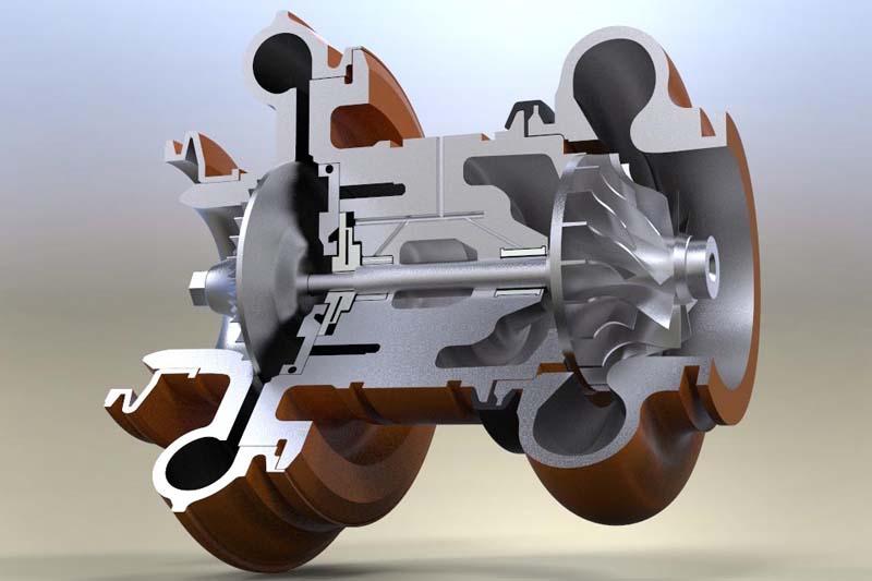 Turbo tăng áp đối với động cơ diesel ô tô