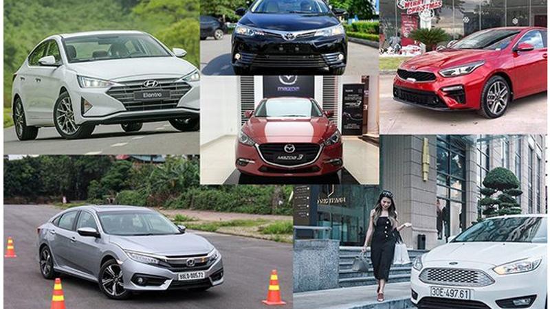 Phân khúc hạng C bình dân tại Việt Nam hiện có 6 cái tên: Ford Focus, Honda Civic, Hyundai Elantra, KIA Cerato, MAzda3 và Toyota Altis.